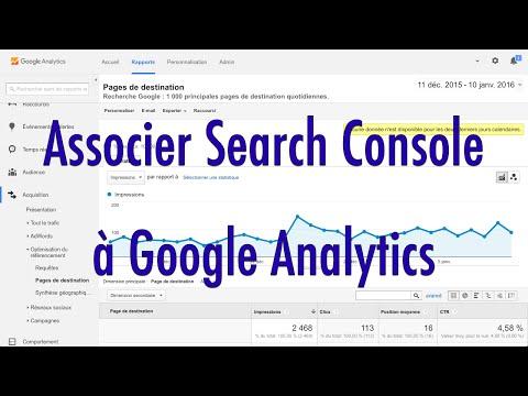 Comment associer Search Console à Google Analytics