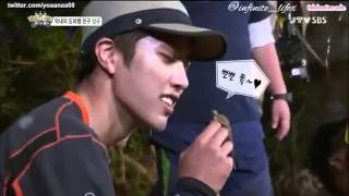 Sung Yeol pet Lizard Sung Gyu @Law Of The Jungle Eng Sub