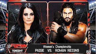 WWE 2K16 - Roman Reigns vs Paige - Women's Championship Match