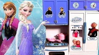 Cozinha das Princesas Anna Elsa Disney Febre Congelante ToysBR   Elsa Cooking Kitchen Toy Deluxe