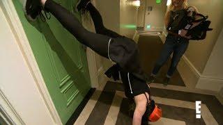 Paige Twerks Upside Down on a Hotel Door! on Total Divas