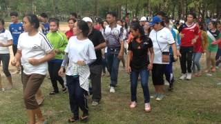 National University os Laos - Lao Song by lao teacher in University sports events