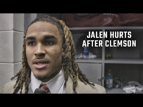 Hear what Jalen Hurts has to say after loss to Clemson 35 31