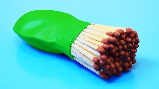 3 AWESOME LIFE HACKS WITH MATCHES