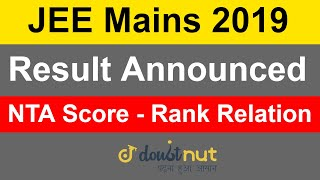 JEE Mains 2019 January   Result Announced   NTA Score   How To Check