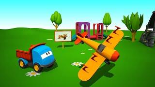 Leo la Troca Curiosa - Avión - Carros para niños
