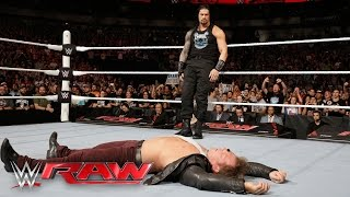 Roman Reigns is confronted by Kevin Owens, AJ Styles, Sami Zayn & Chris Jericho: Raw, Apr. 4,. 2016