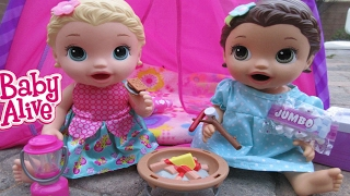 BABY ALIVE Lily & Jenna Go Camping!