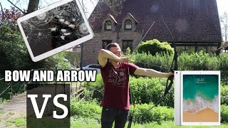insane bow and arrow vs Samsung tablet | must see!