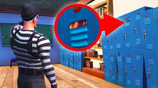 Playing HIDE & SEEK In A School! (Fortnite)