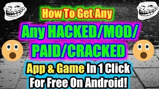 How To Download Any Games Hacked Version Apk For Free!App hacker!Online hacking course