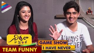 Nirmala Convent Movie Team Funny Game Show | Roshan Opens Up about his Love Affair