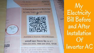 My Electricity Bill Before And After Installation Of Inverter AC