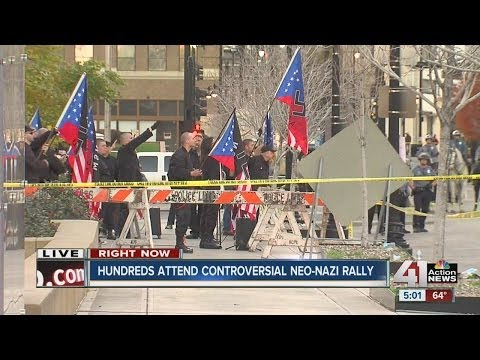 Neo Nazi rally held in downtown Kansas City