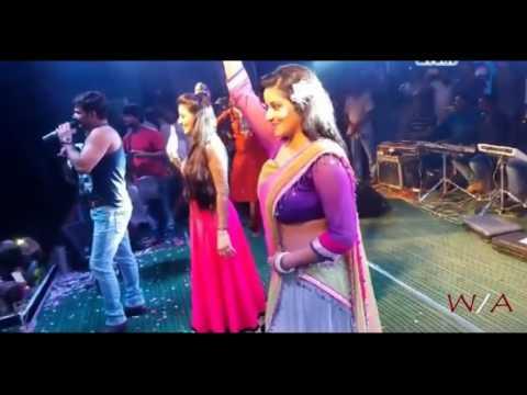 Monali thakur  with pawan singh hot...