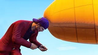 HE STOPPED A PLANE WITH HIS HEAD! (Gta 5 Funny Moments)
