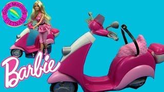 Barbie's Glam Scooter - Xe Máy Của Búp bê Barbie Mới (Chị Bí Đỏ)- Barbie Đi Chợ Bằng Xe Máy