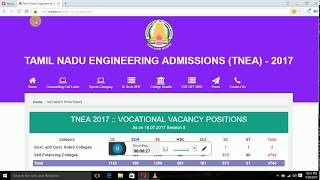 anna university counselling  collge search