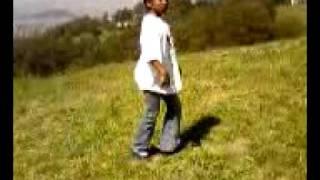 Little girl Dancing On the Grass