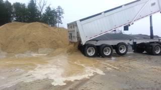 Dump trailer wet sand