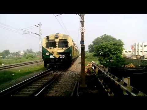 Indian Railways : Vijayawada Gudur passenger Entering Kavali Railway station