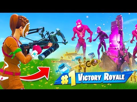 WINNING With ONLY Zombie Loot In Fortnite