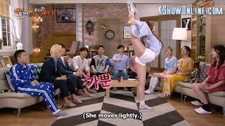 [EngSub] WJSN Cheng Xiao Show Her Flexible Body on Happy Together
