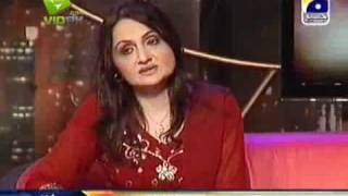 Singer Shazia Khushk & M Tauseef in The Sahir Show on Geo Tv - P-3