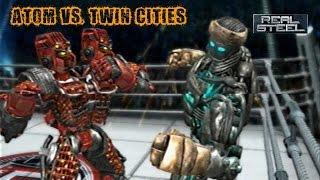 REAL STEEL - ATOM VS. TWIN CITIES - Gigantes de aço - Luta da Liga