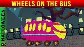 Wheels On The Bus  (HD)  | Nursery Rhymes | Halloween Special