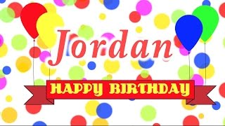 Happy Birthday Jordan Song