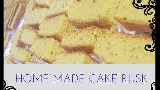 HOME MADE CAKE RUSK (cookingwithDua Qaiser)