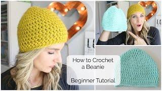 How to Crochet a Beanie - Beginner Tutorial
