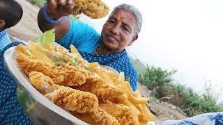 Grandma's Chicken Fingers Recipe | Chicken Fingers By Our Granny | Desi Kitchen