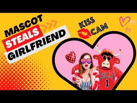 Benny The Bull Kiss Cam Steals Celtic s Fan Girlfriend FULL VIDEO