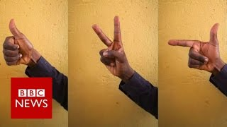 Uganda's vote by hand gestures - BBC News