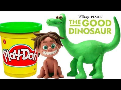 Dinosaurs Play Doh Stop Motion - Disney The Good Dinosaur Play Doh Cartoon -