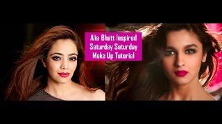 FOMO : Alia Bhatt Inspired Saturday Saturday Make Up Tutorial l Humpty Sharma Ki Dulhania (Hindi)