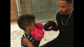 Andre Ward & son SHOW OFF Boxing Skills!!!