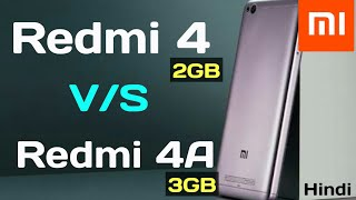 Xiaomi Redmi 4A (3 GB) vs Redmi 4 (2 GB) Which one is better [Hindi]