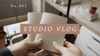 Studio Vlog 03 : Restocking my shop & making lots and lots of journals