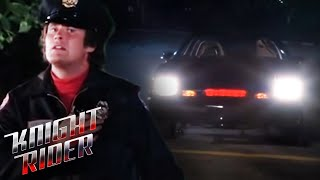 K.I.T.T helps Michael Escape From Comtron | Knight Rider