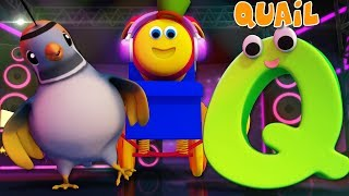 Phonics Letter Q | Learning Street With Bob The Train | Alphabets Videos For Babies | ABC | Kids Tv
