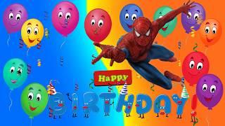 HAPPY BIRTHDAY SONG SPIDERMAN/NURSERY RHYMES FOR KIDS.