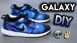 How To: Galaxy Your Shoes (No Airbrush)   Full Roshe Run Custom Tutorial Timelapse