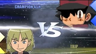 Pokemon Omega Ruby & Alpha Sapphire [ORAS]: Champion Ash Vs Trip