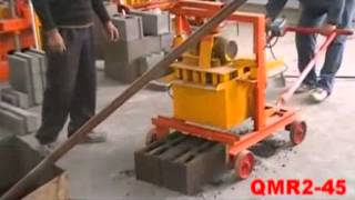Wante QT40-3C(QMR2-45) manual mobile block machine from China