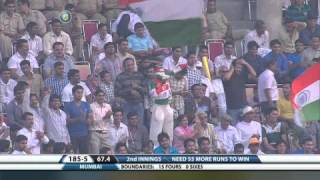 sachin last first class innings mumbai v/s haryana ranji trophy match.......