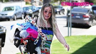 Hilary Duff Safely Recovers From Nearly Taking A Tumble While Pregnant At The Cleaners 6.28.18