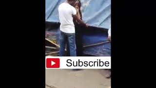Boy Teasing a Young girl in the road